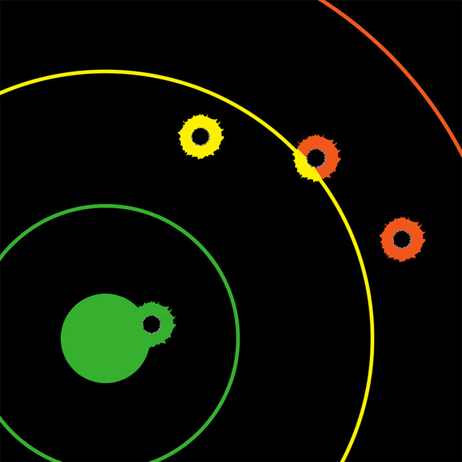 """BIRCHWOOD CASEY 35830 B//C cible DIRTY BIRD 12/"""" Multi-Color Bull/'s eye 10 goudron..."""
