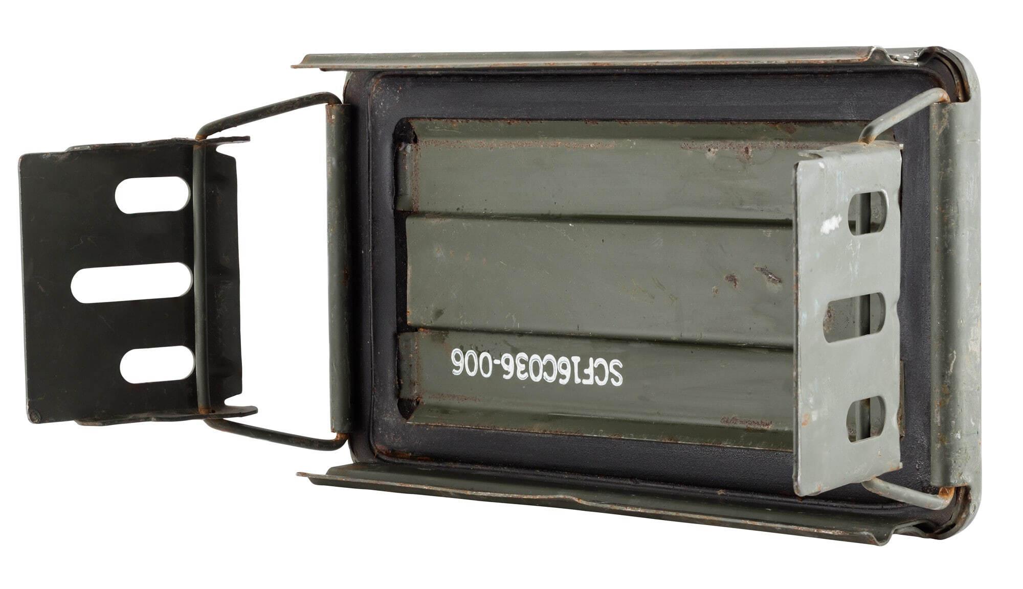US munitions boîte avec serrure métal Boîte de transport cantine Army Ammo Box