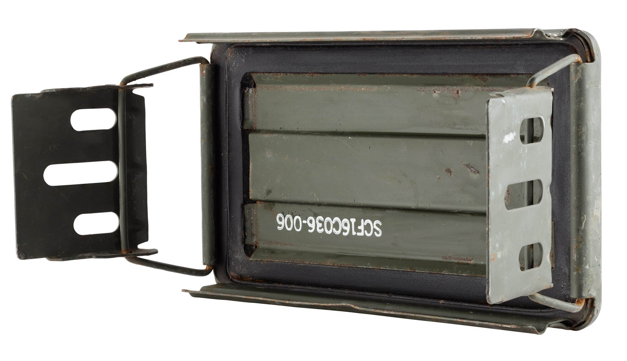 A60446-4 US 120mm used metal ammo box - A60446