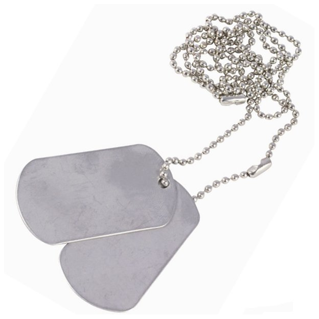 A60709 Pack de 10 dog tags Us Army - A60709