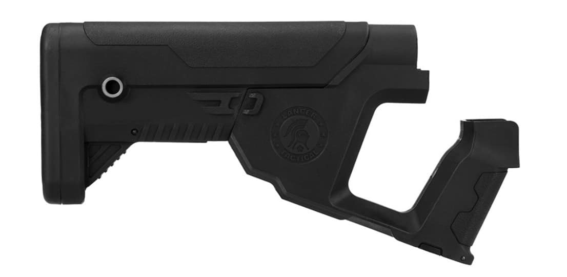 A68769-1 Lancer Tactical Alpha stock Black for M4 AEG - A68769