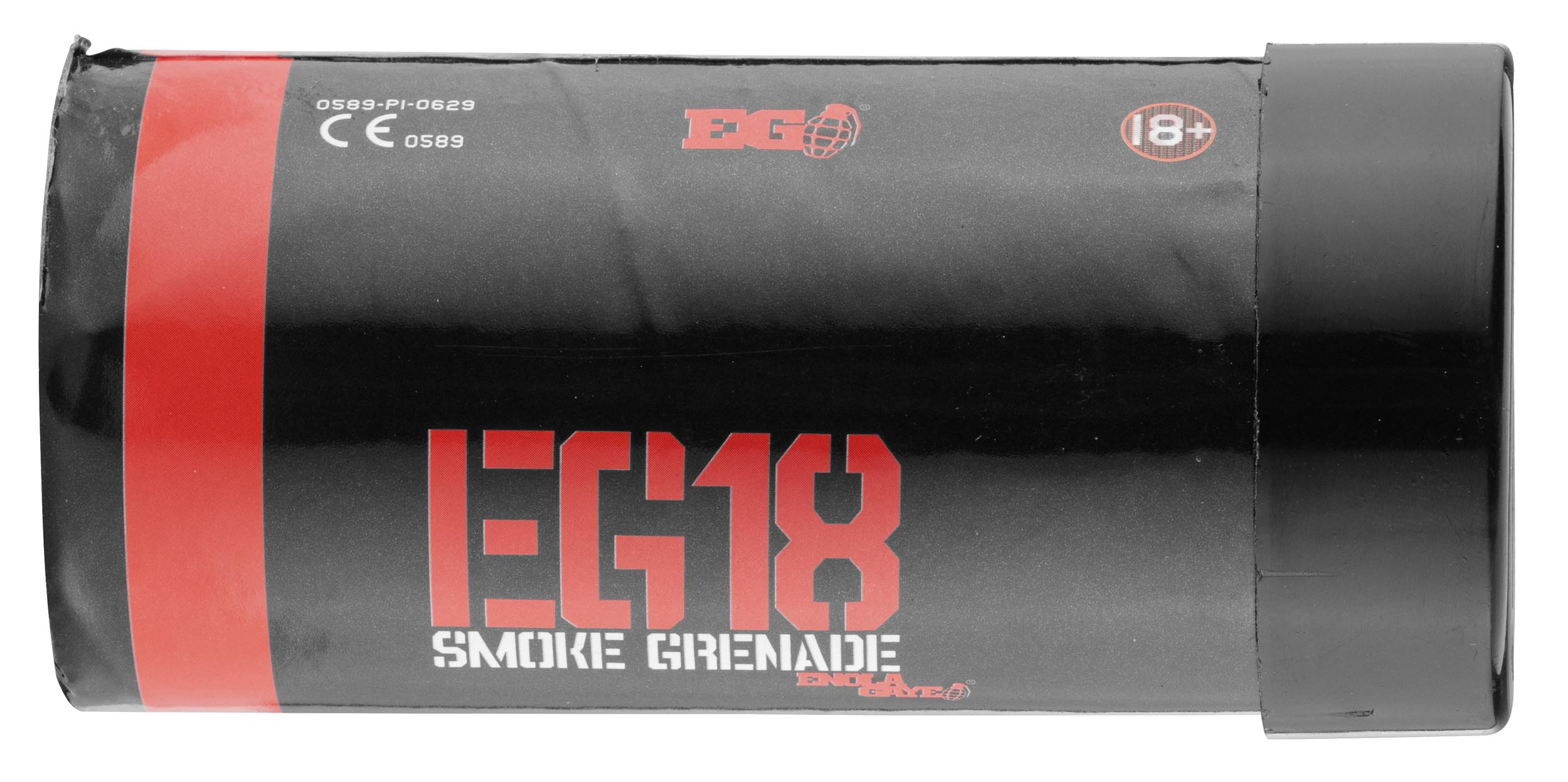 A705315R-3 Fumigène ROUGE eg-18 wire pull assault smoke - Enola gaye - A705315R