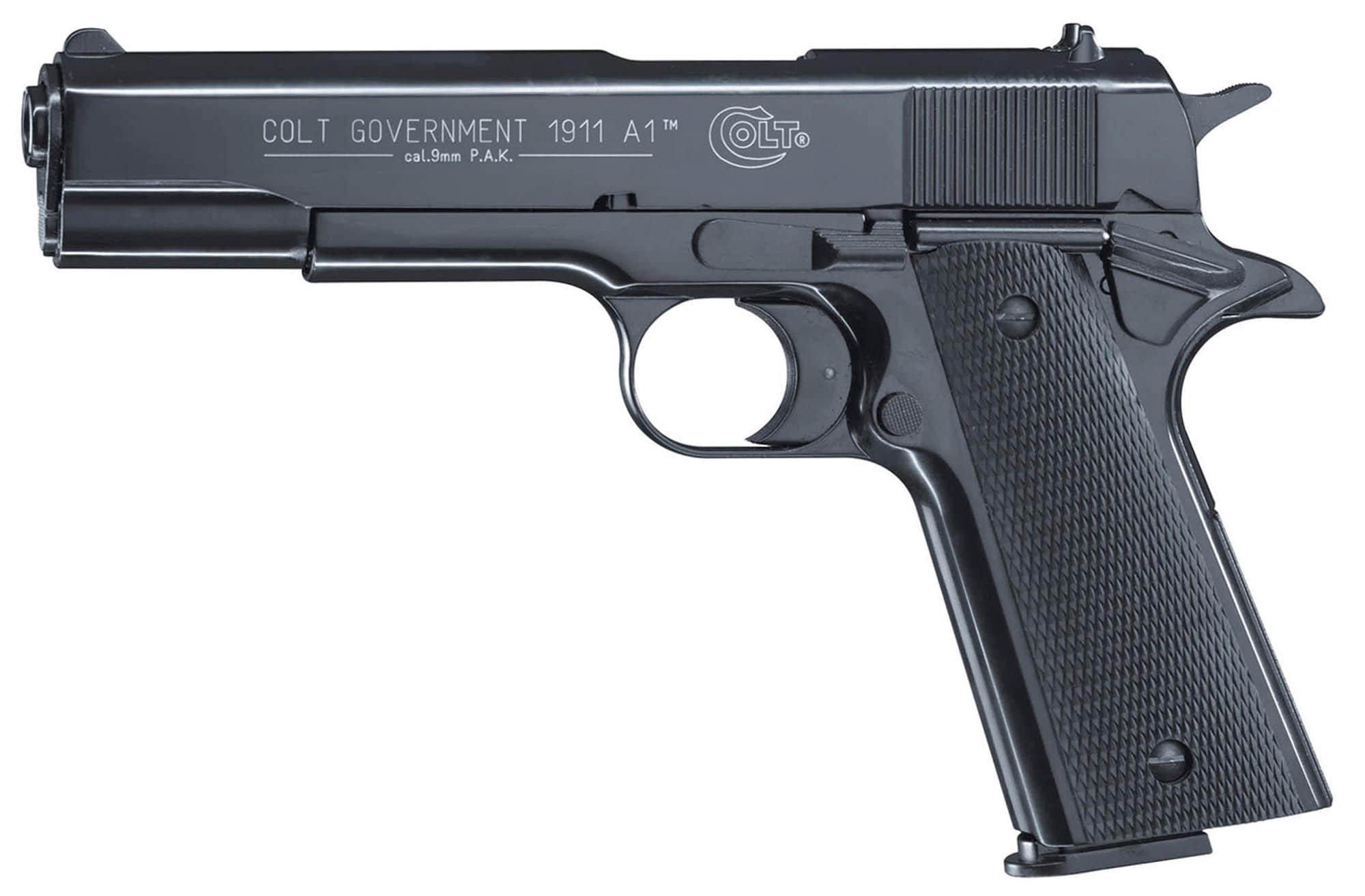pistolet 9 mm blanc colt government 1911 a1 bronz. Black Bedroom Furniture Sets. Home Design Ideas
