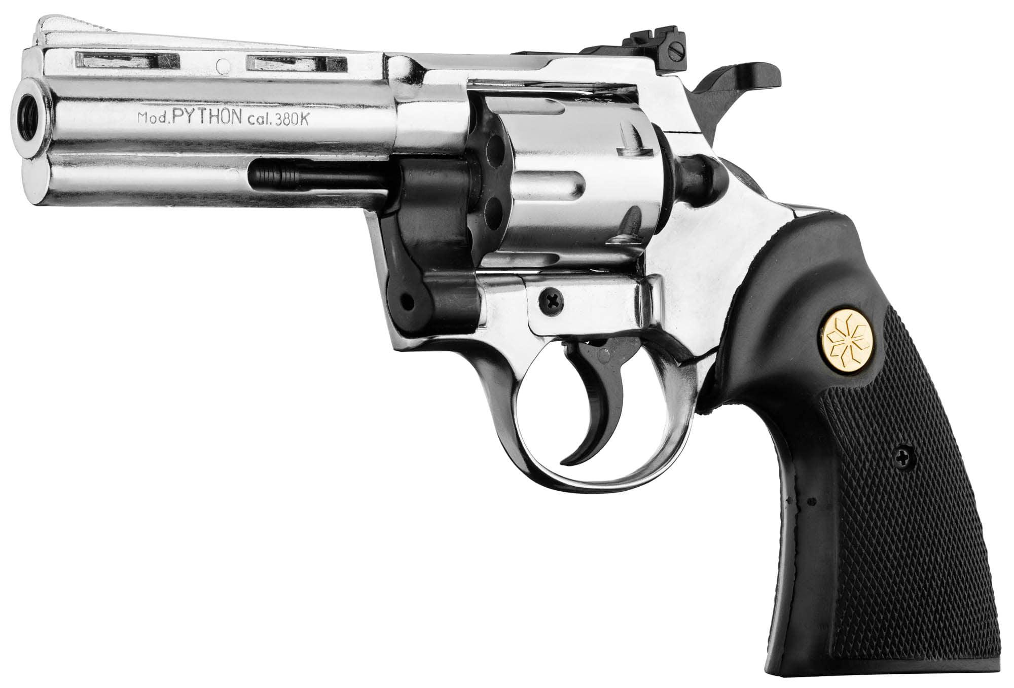 Revolver 9 mm to white Chiappa Python chrome
