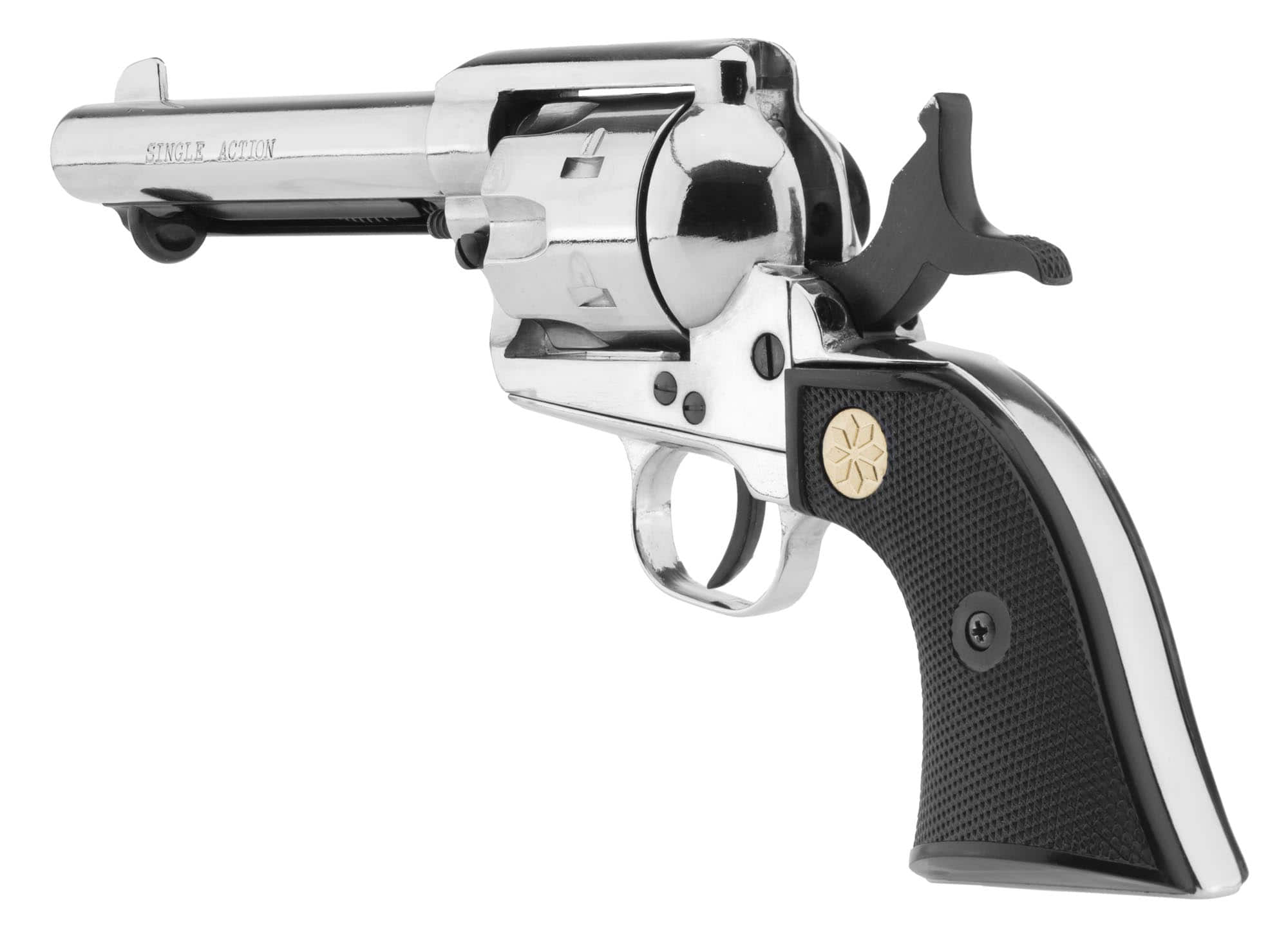 AB255-4-REVOLVER SINGLE ACTION 4 pouces  3/4 Cal.380 NICKEL - AB255