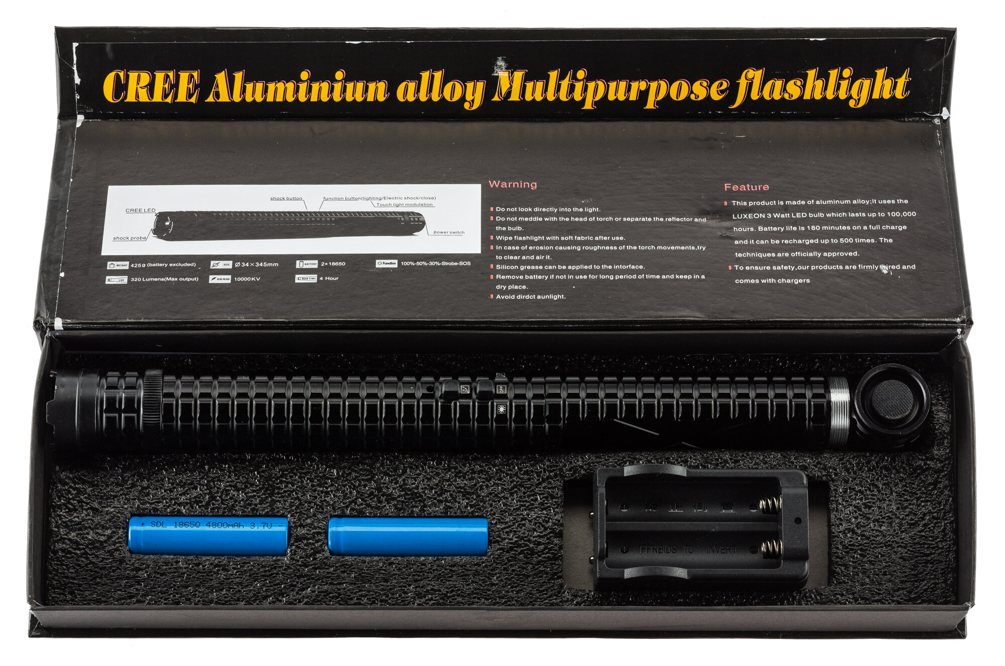 AD737-3-Duplica Matraque shocker 10 000 000  volts - AD737