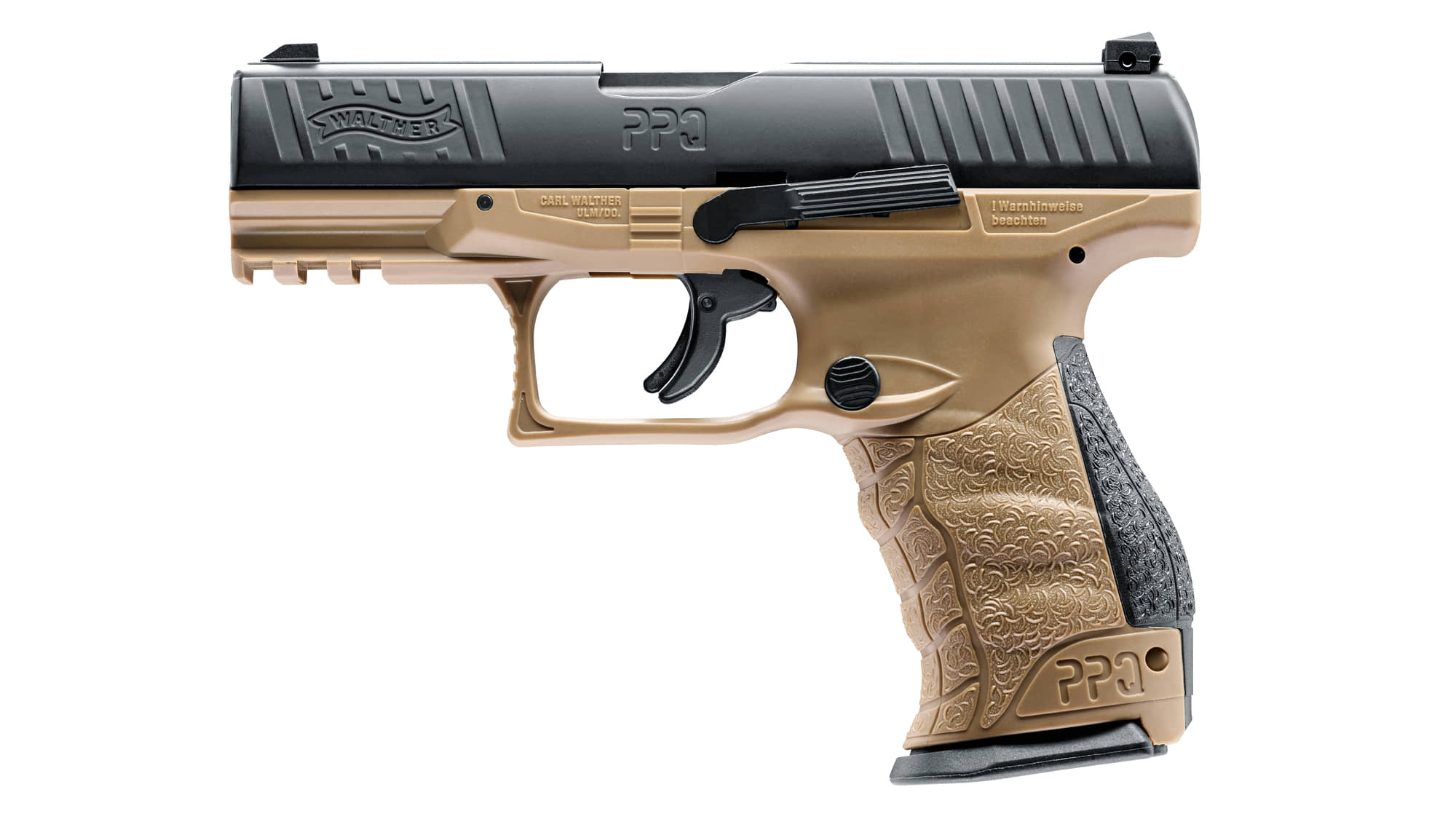 AD822-2-Pistolet CO2 Walther PPQ M2 T4E tan cal. 43 - AD821C