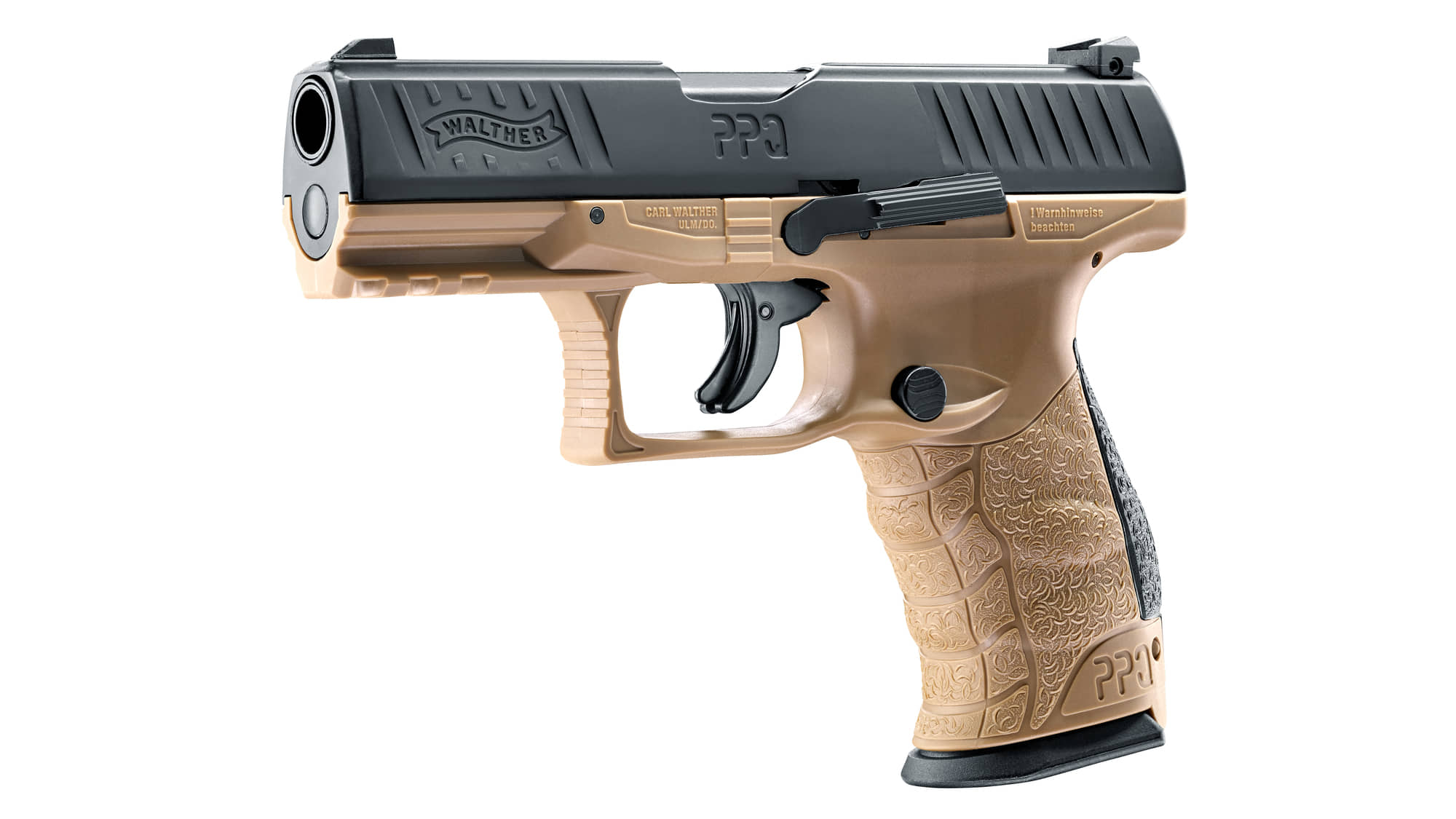 AD822-Pistolet CO2 Walther PPQ M2 T4E tan cal. 43 - AD821C