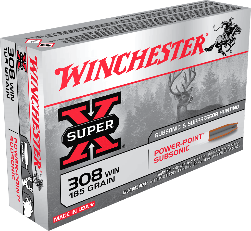 BW3107-01 Munition Winchester Cal. . 308 win Subsonique - chasse et tir - BW3107