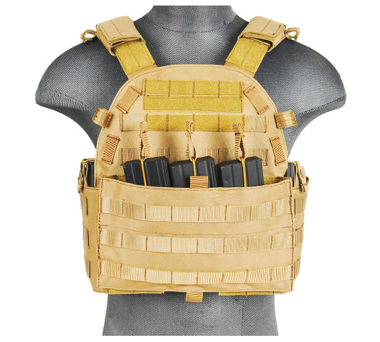 CA-311T2N-1-Plate Carrier 1000D Tan - A68608