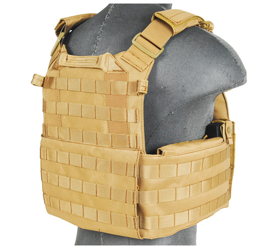 CA-311T2N-3-Plate Carrier 1000D Tan - A68608