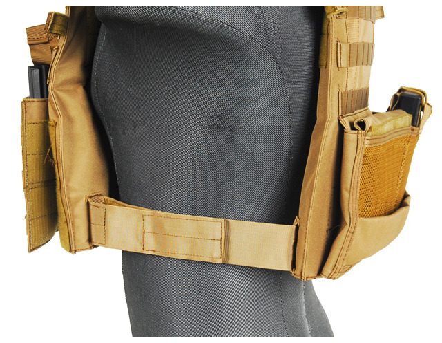 CA-311T2N-6-Plate Carrier 1000D Tan - A68608