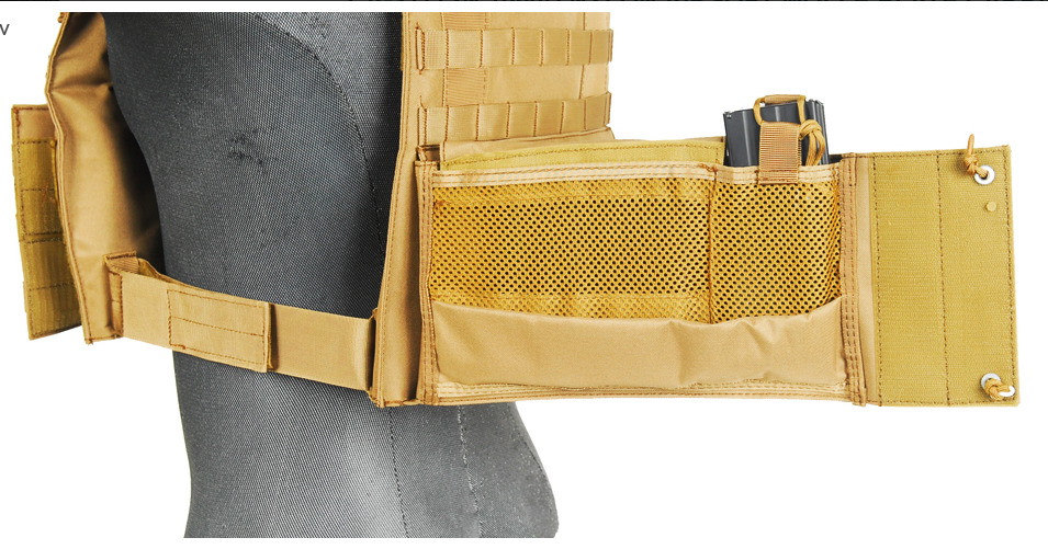 CA-311T2N-7-Plate Carrier 1000D Tan - A68608