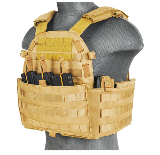 CA-311T2N-Plate Carrier 1000D Tan - A68608