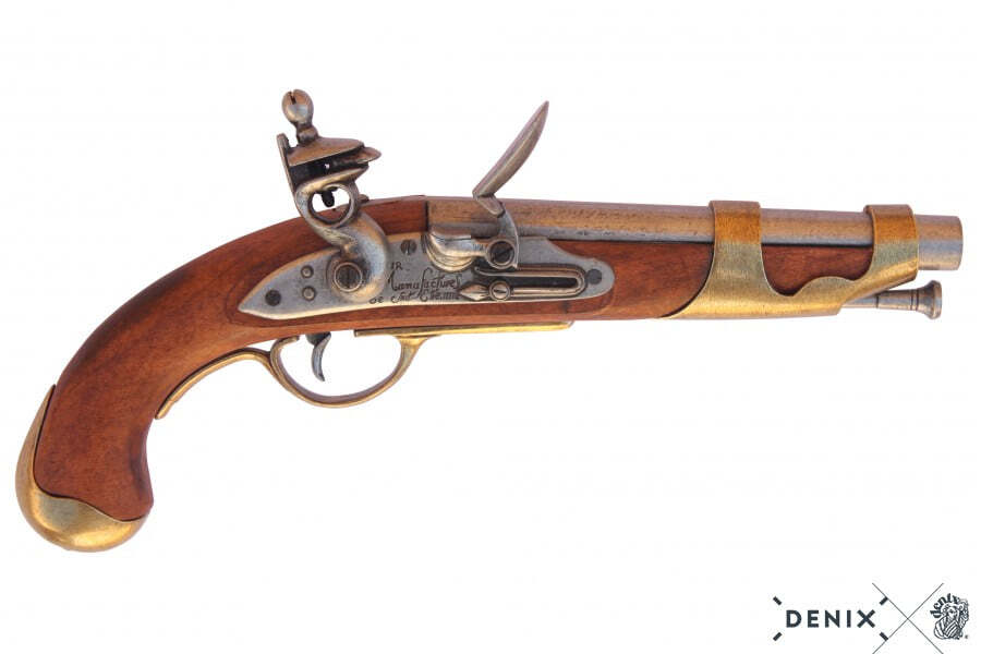 CD1011-01-Réplique décorative de pistolet de clavalrie français 1806 - CD1011