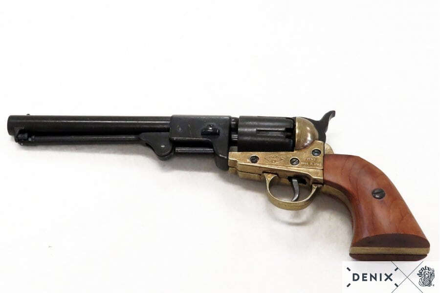CD1083L-02-Réplique décorative Denix de Revolver 1851 marine américaine - CD1083L