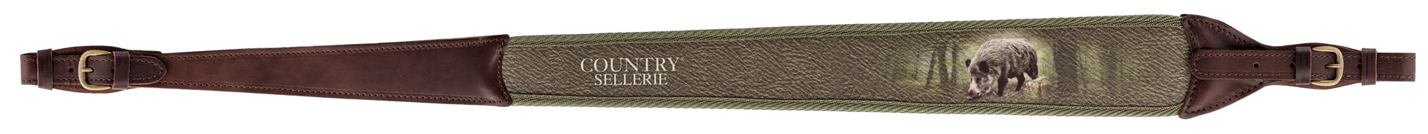 CU1309 Rifle leather double loop buckle - Country Saddlery - CU1309