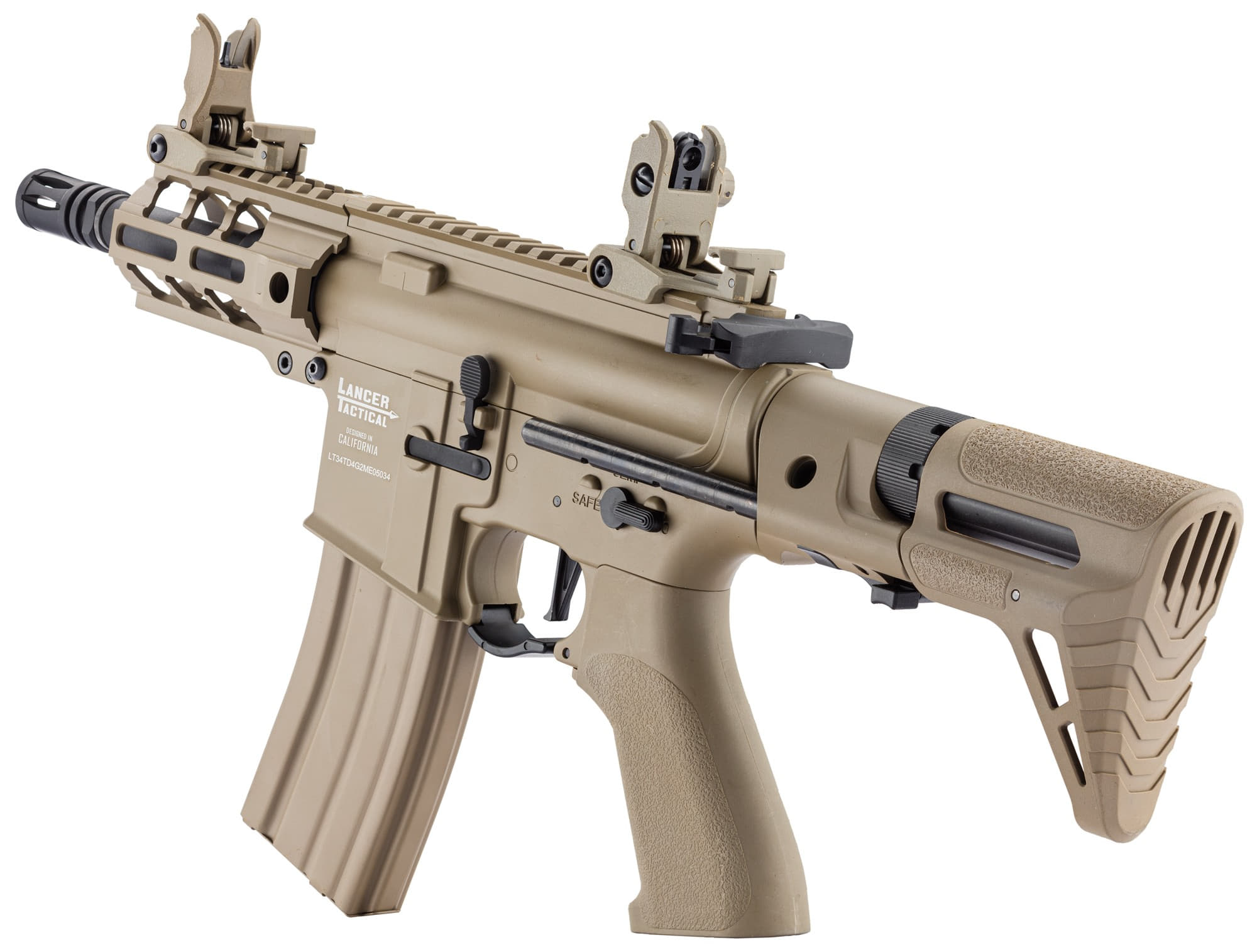 LK9077-12 Réplique AEG LT-34 Proline GEN2 Enforcer Battle Hawk PDW 4' tan - CLK9000