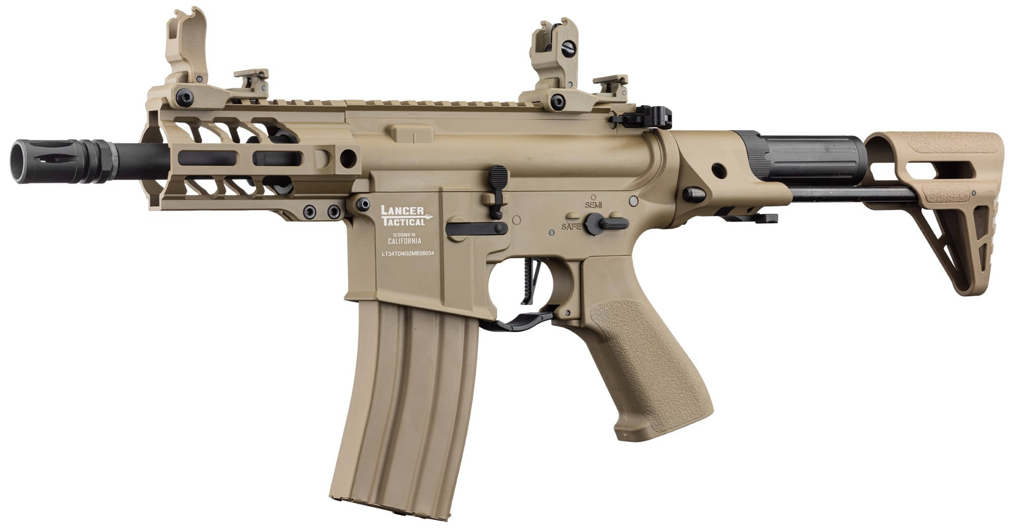LK9077-5 Réplique AEG LT-34 Proline GEN2 Enforcer Battle Hawk PDW 4' tan - CLK9000
