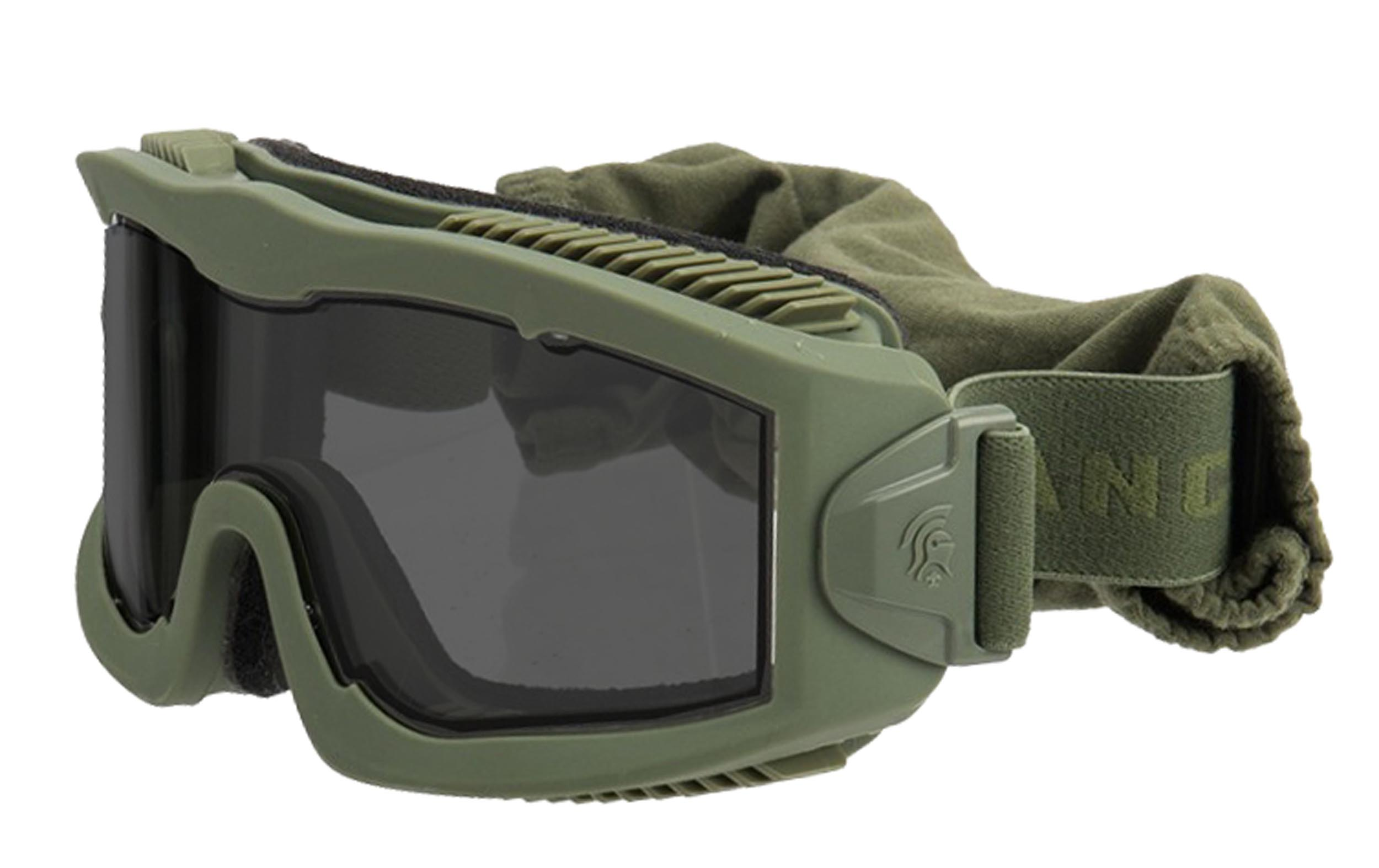 MAS204 Airsoft Mask AERO Series Thermal OD smoke - MAS204