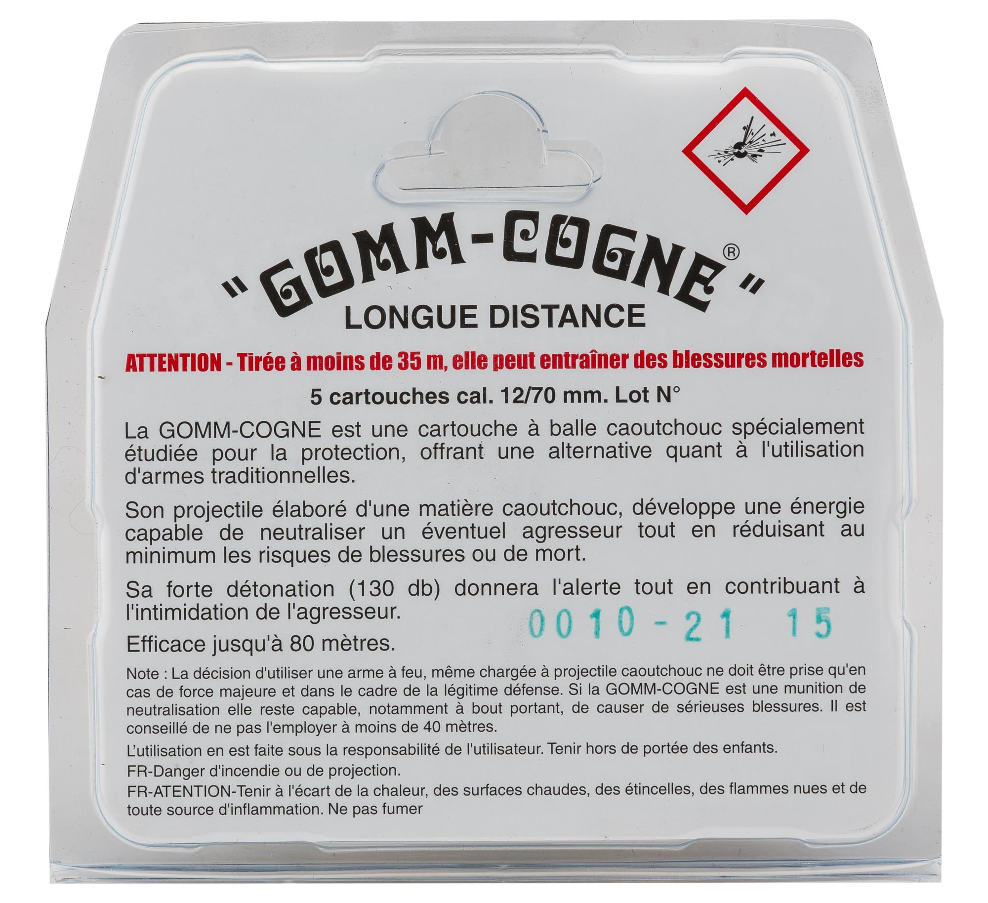 MD416-5-BALLES DE PROTECTION LONGUE DISTANCE - GOMM-COGNE - MD416