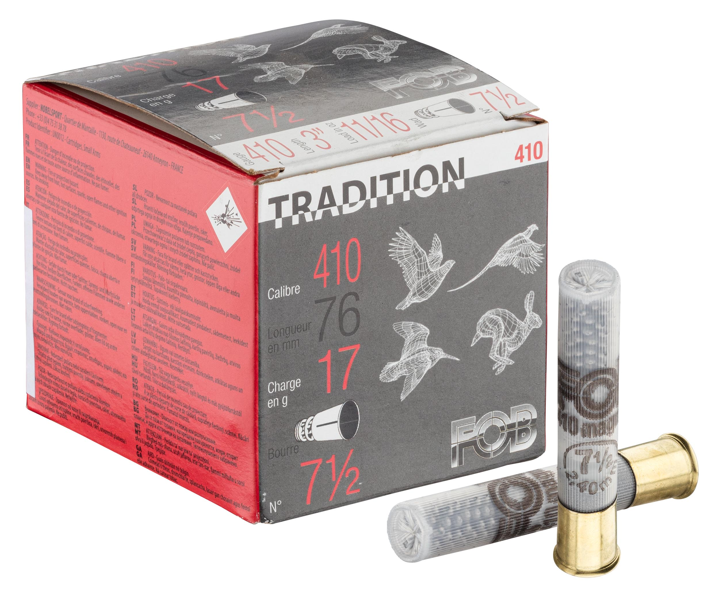 MF1060-6 Fob Tradition Cartridges - Cal. 410 Magnum - MF1060