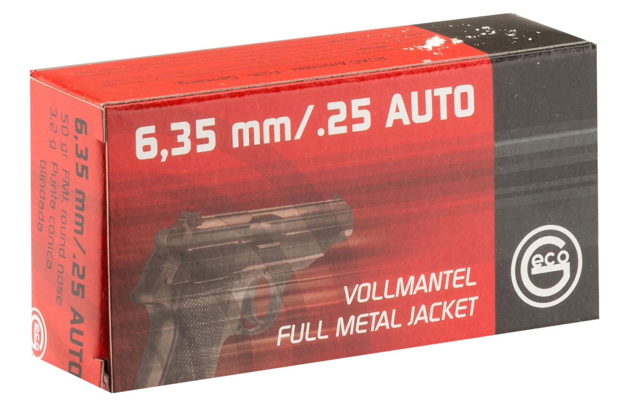 Geco cartridges cal  25 ACP-6 35mm