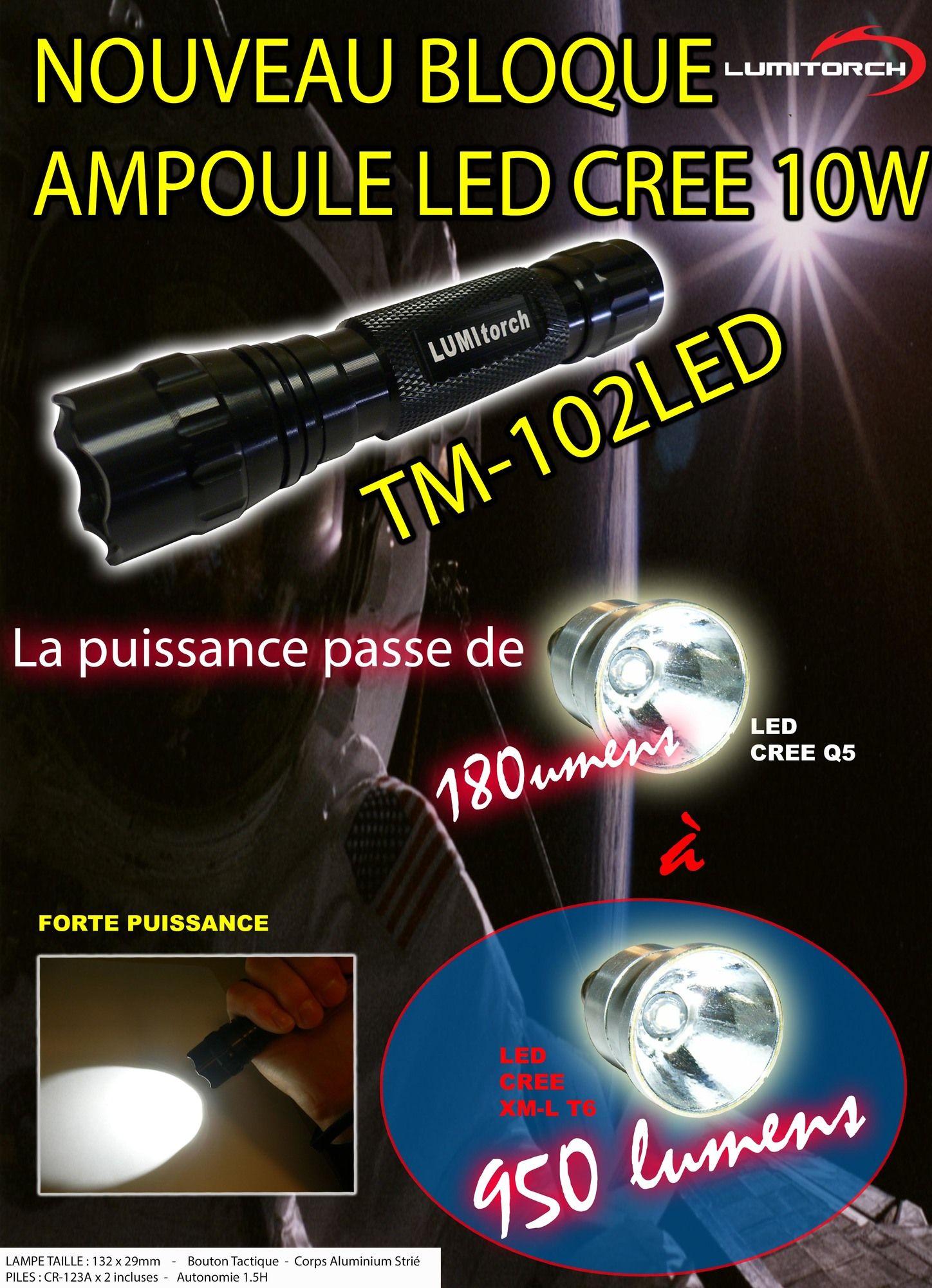 Lampe Torche Led Cree 950 Lumens Lumitorch Lumitorch