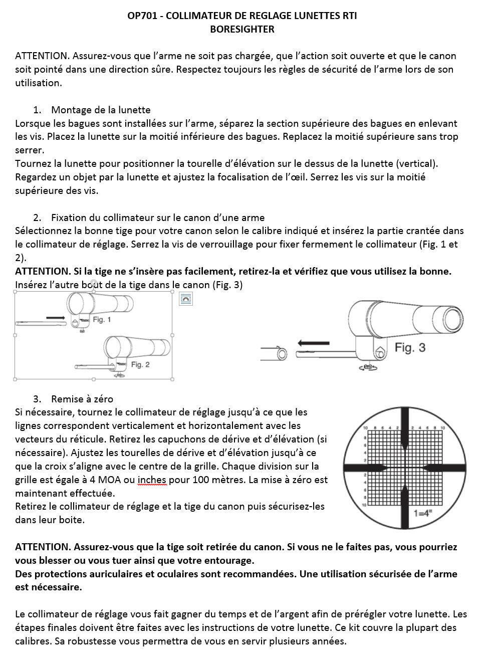 OP701-N-Collimateur de réglage tous calibres. def36b3e6e02