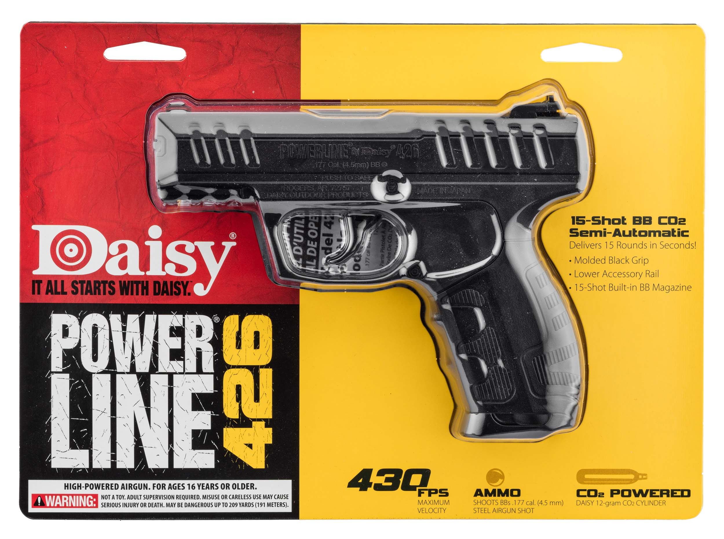PA150-1 Pistolet CO2 Daisy Power Line 426 - BB's 4,5 mm - PA150