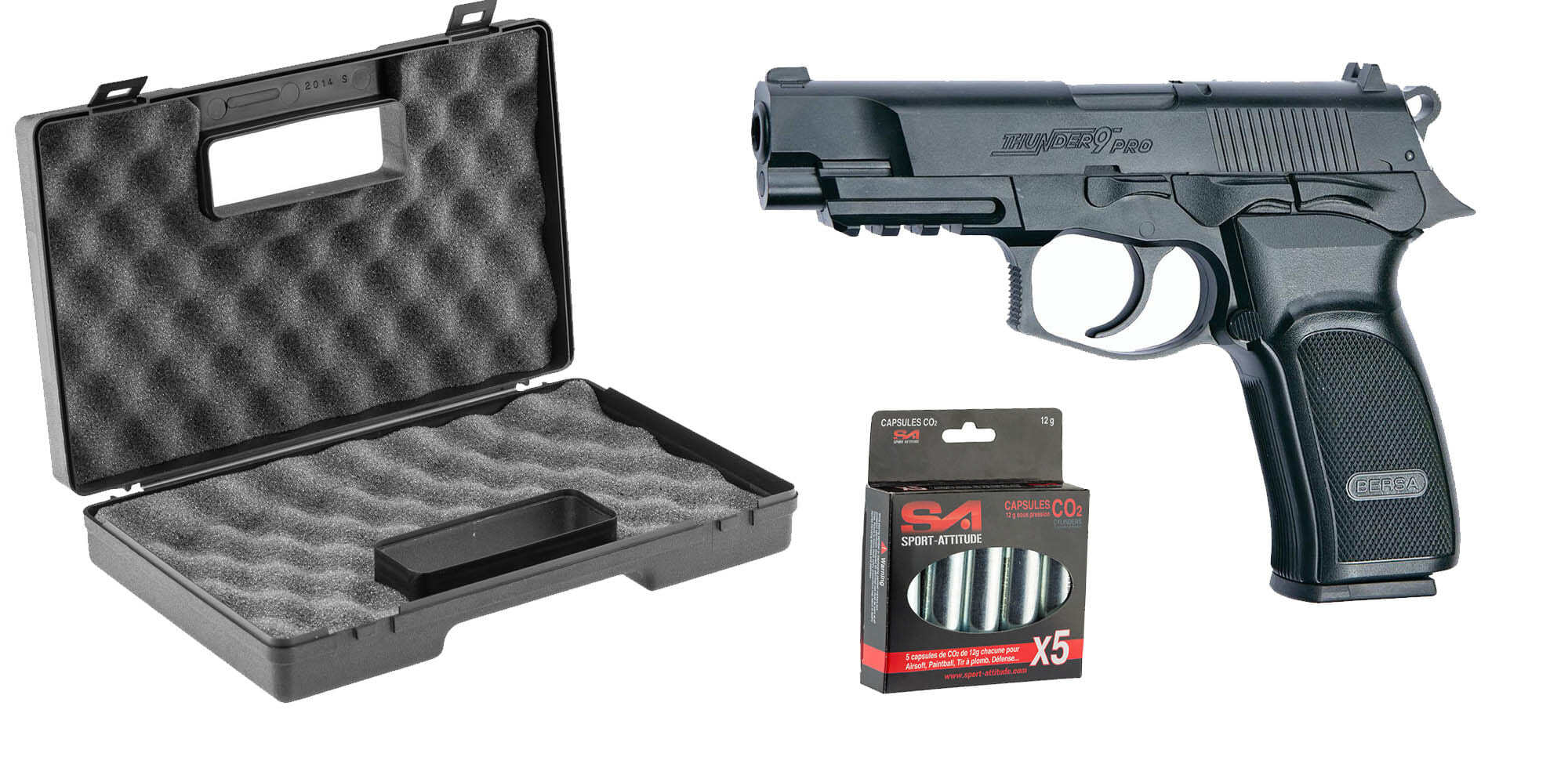PCKPG1950-Pack Bersa- CO2 + mallette ABS + 5 Co2 - PCKPG1950