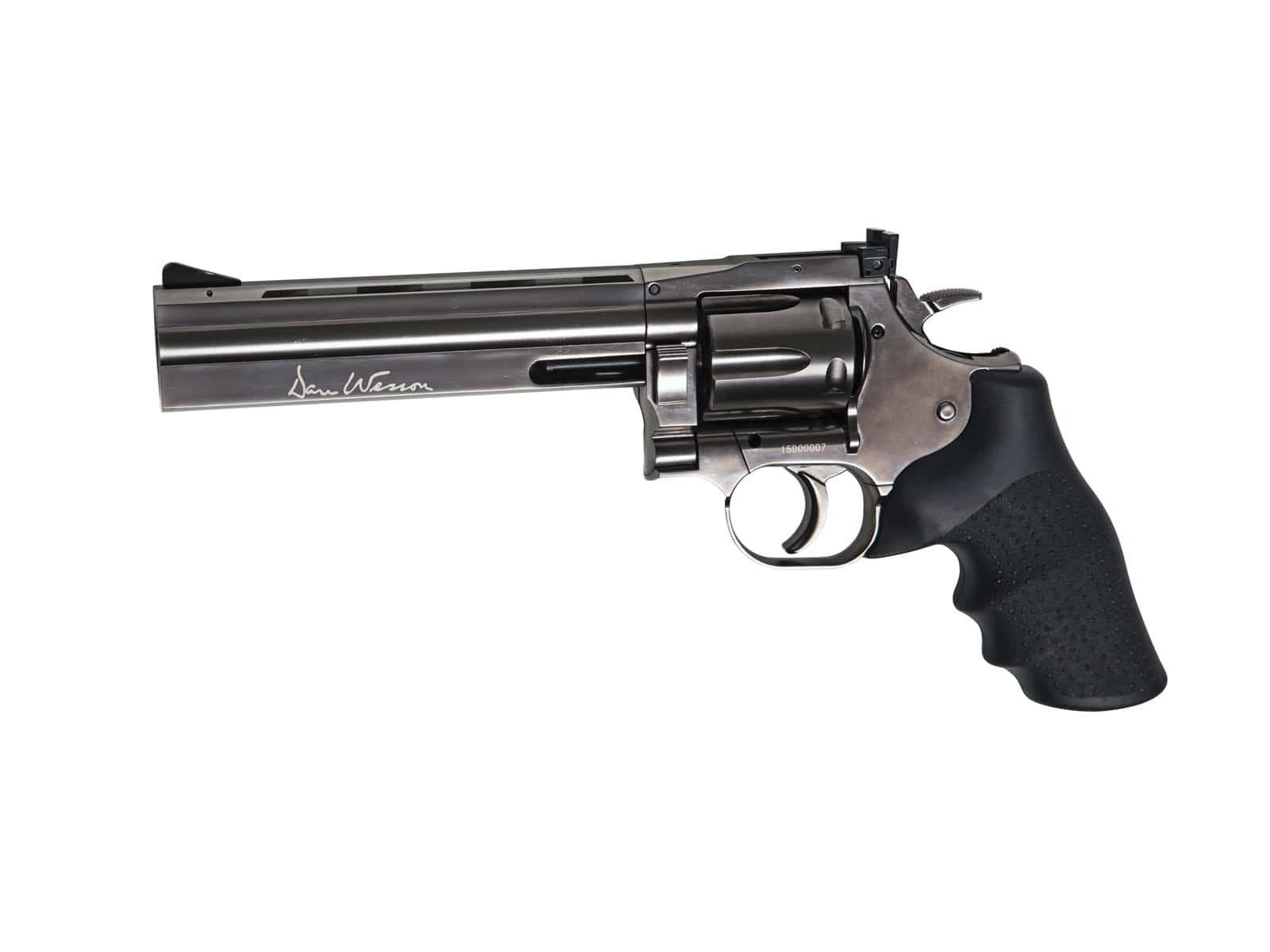 PG1928-Duplica REPLIQUE REVOLVER DAN WESSON 715 CO2 STEEL GREY 6 POUCES ASG - CPG1920
