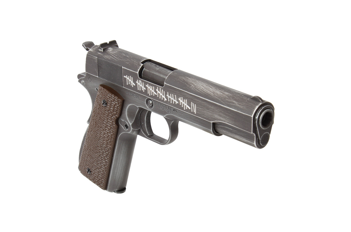 PG42461-5-Réplique GBB 1911 Molon Labe Grip marron - AW CUSTOM - PG42460C