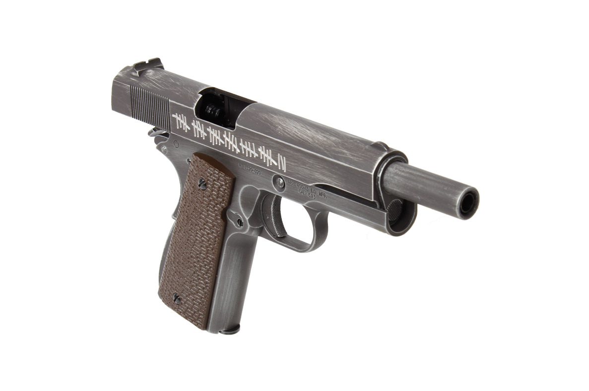 PG42461-6-Réplique GBB 1911 Molon Labe Grip marron - AW CUSTOM - PG42460C