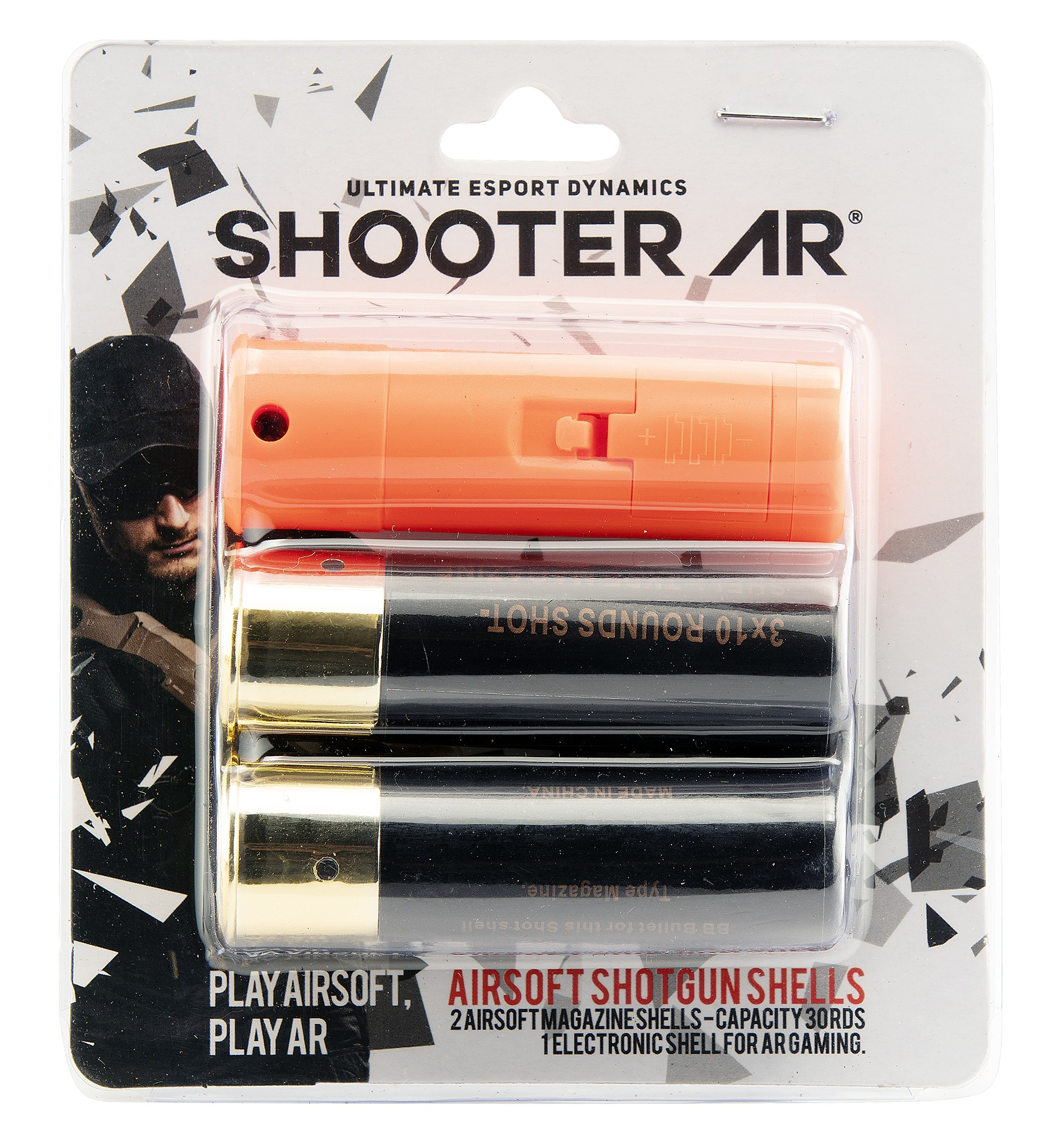 USA68356 Pack of 2 airsoft shotgun shells and 1 bluetooth shell SHOOTER AR - USA68356